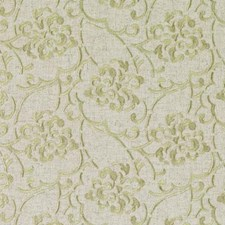 Natural/Green Embroidery Decorator Fabric by Duralee