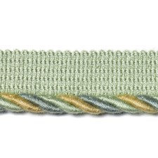 Cord Natural/Aqua Trim by Duralee