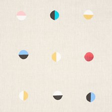 Natural Moons Decorator Fabric by Schumacher