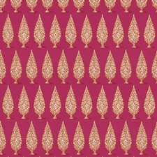 Pink Orange Geometric Decorator Fabric by Stroheim