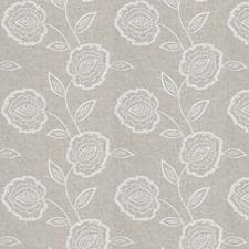 White Embroidery Decorator Fabric by Fabricut