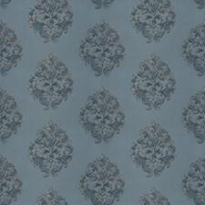 Ocean Damask Decorator Fabric by Stroheim