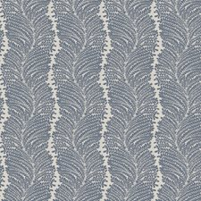 Lapis Leaves Decorator Fabric by Trend