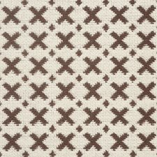 Brown/amp/Ecru Decorator Fabric by Schumacher