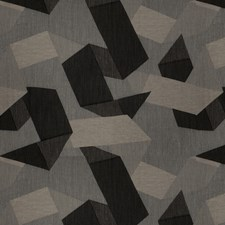 Black Rock Geometric Decorator Fabric by S. Harris