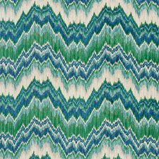 Blue/Green Decorator Fabric by Schumacher
