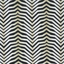 Zebra Black Decorator Fabric by Schumacher