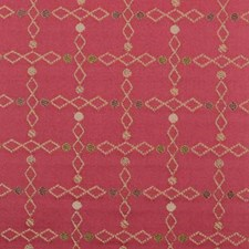 Poppy Red Diamond Decorator Fabric by Highland Court