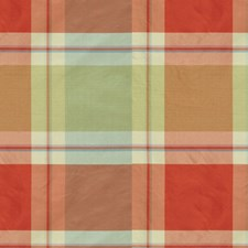 Pink/Light Green Plaid Decorator Fabric by Brunschwig & Fils