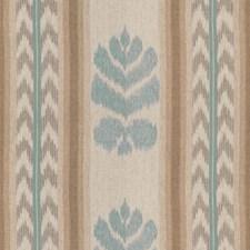 Aqua/Pewter Ikat Decorator Fabric by Brunschwig & Fils