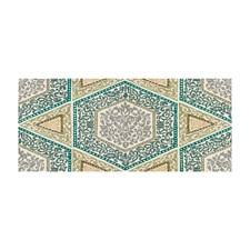 Gray/Aqua Geometric Decorator Fabric by Brunschwig & Fils