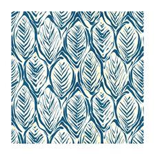 Blue Tropical Decorator Fabric by Brunschwig & Fils