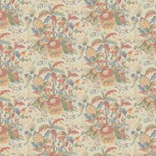 Red/Blue Tropical Decorator Fabric by Brunschwig & Fils