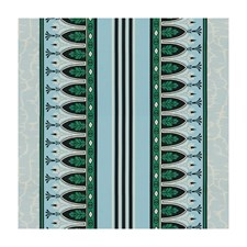 Emerald/Aqua Stripes Decorator Fabric by Brunschwig & Fils
