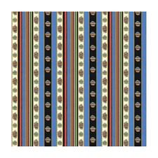 Bleu Stripes Decorator Fabric by Brunschwig & Fils