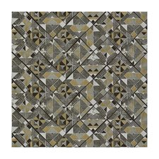 Cocoa/Pewter Contemporary Decorator Fabric by Brunschwig & Fils