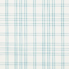 Turquoise Plaid Decorator Fabric by Brunschwig & Fils