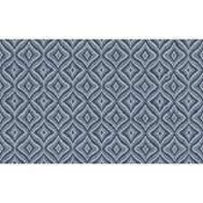 Indigo Geometric Decorator Fabric by Brunschwig & Fils