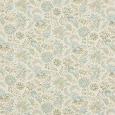 Aqua Botanical Decorator Fabric by Brunschwig & Fils
