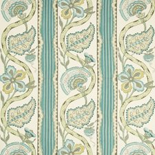Aqua/Green Botanical Decorator Fabric by Brunschwig & Fils