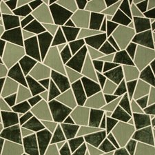 Green Geometric Decorator Fabric by Brunschwig & Fils