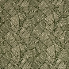 Green Botanical Decorator Fabric by Brunschwig & Fils