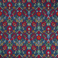 Indigo/Red Ethnic Decorator Fabric by Brunschwig & Fils