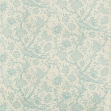 Aqua Toile Decorator Fabric by Brunschwig & Fils