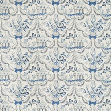 Blue Botanical Decorator Fabric by Brunschwig & Fils