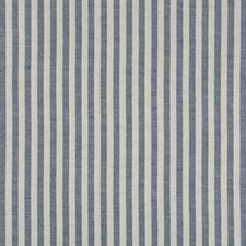 Indigo Stripes Decorator Fabric by Brunschwig & Fils