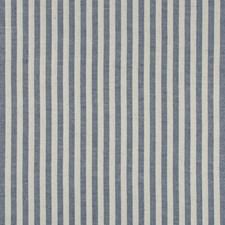 Indigo Stripes Decorator Fabric by Brunschwig & Fils