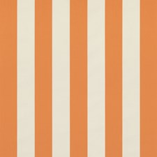 Orange Stripes Decorator Fabric by Brunschwig & Fils