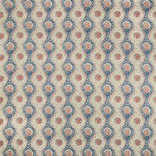 Blue/Red Ethnic Decorator Fabric by Brunschwig & Fils