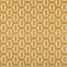 Gold Geometric Decorator Fabric by Brunschwig & Fils