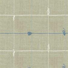 Blue/White/Beige Stripes Decorator Fabric by Kravet