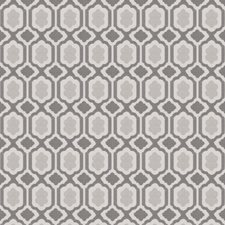 Grey Small Scale Woven Decorator Fabric by Stroheim