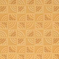 Amber Geometric Decorator Fabric by S. Harris