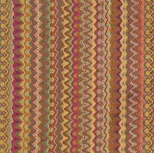 Rhubarb Flamestitch Decorator Fabric by S. Harris