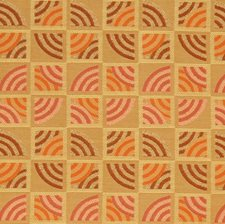Rhubarb Geometric Decorator Fabric by S. Harris