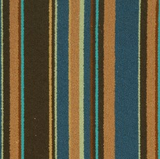 Peacock Stripes Decorator Fabric by S. Harris