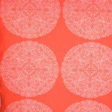 Hot Coral Geometric Decorator Fabric by S. Harris