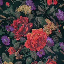 Night Shade Floral Decorator Fabric by S. Harris