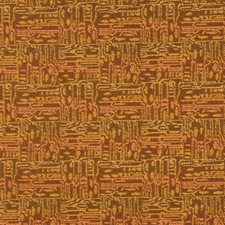 Pumpkin Geometric Decorator Fabric by S. Harris