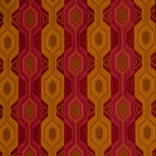 Beetroot Geometric Decorator Fabric by S. Harris
