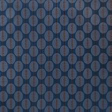 Cobalt Geometric Decorator Fabric by S. Harris