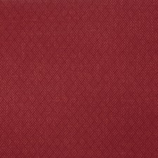 Lacquer Red Herringbone Decorator Fabric by S. Harris