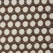 Coffee Geometric Decorator Fabric by S. Harris