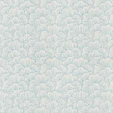 Aqua Flamestitch Decorator Fabric by Trend