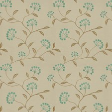 Aqua Natural Embroidery Decorator Fabric by Trend