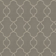 Warm Grey Embroidery Decorator Fabric by Trend